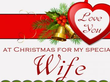 Merry Christmas Wishes For Cute Wife