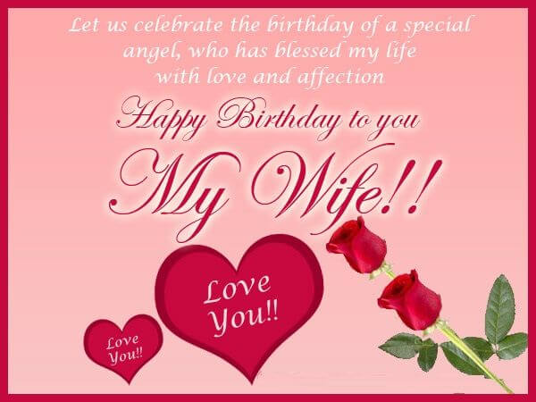 Happy Birthday Wishes For Wife With Quotes Greetings 2021 Wishes Quotz