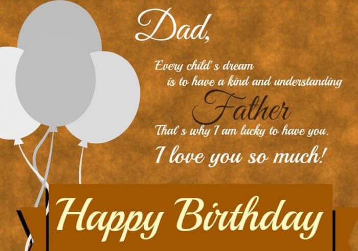 Birthday Wishes For Father With Greetings